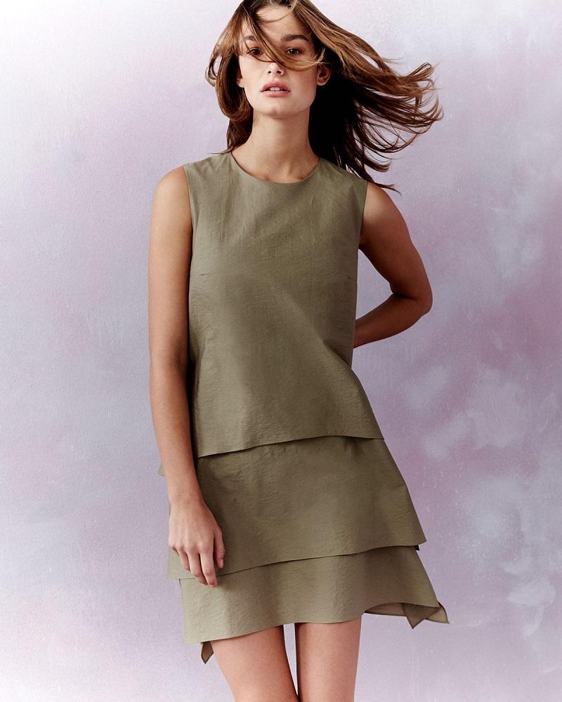 Brunello Cucinelli Sleeveless Layered Shift Dress