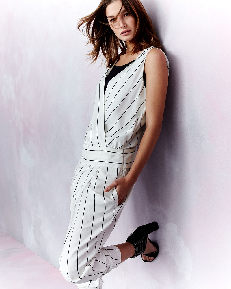 Brunello Cucinelli Sleeveless Tapered-Leg Striped Jumpsuit