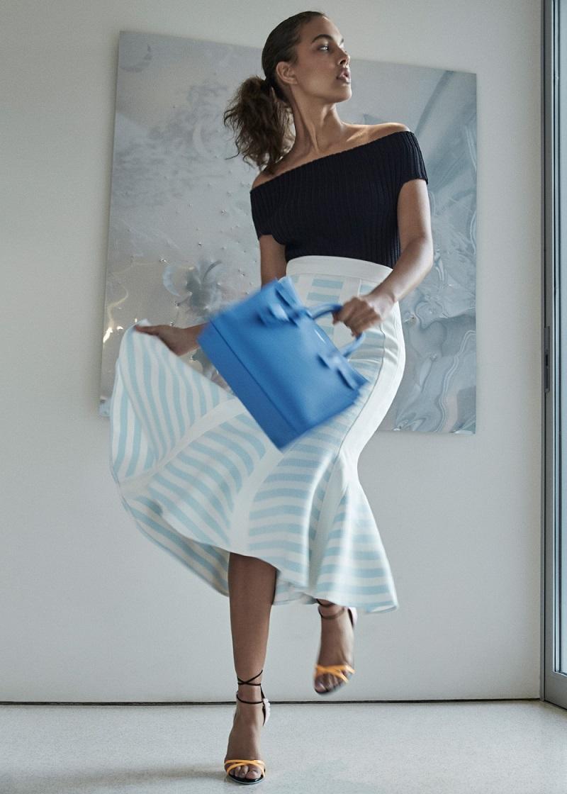 Calvin Klein Collection Wardell Modern Viscose Rib Top