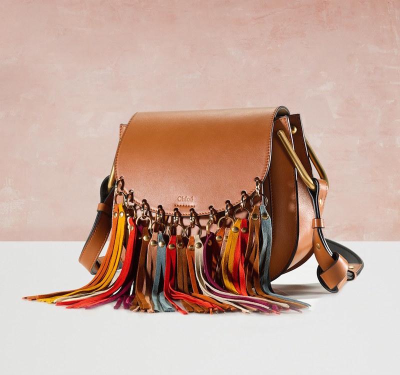 Chloé Small Hudson Suede Tassels Leather Shoulder Bag