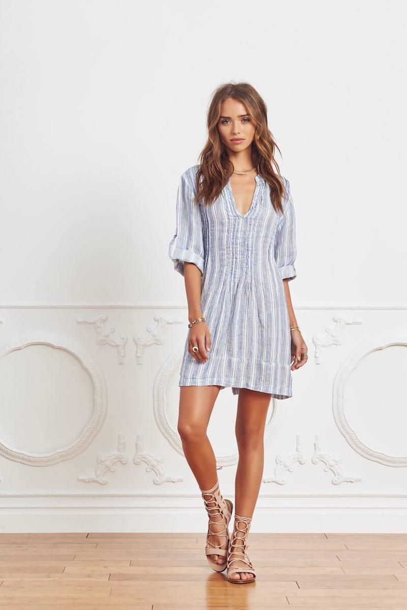 Cp shades Regina Striped Tunic Dress