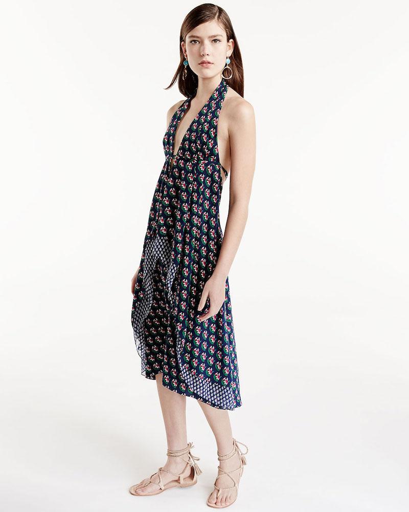 Diane von Furstenberg Leyland Zen Floral Halter Dress