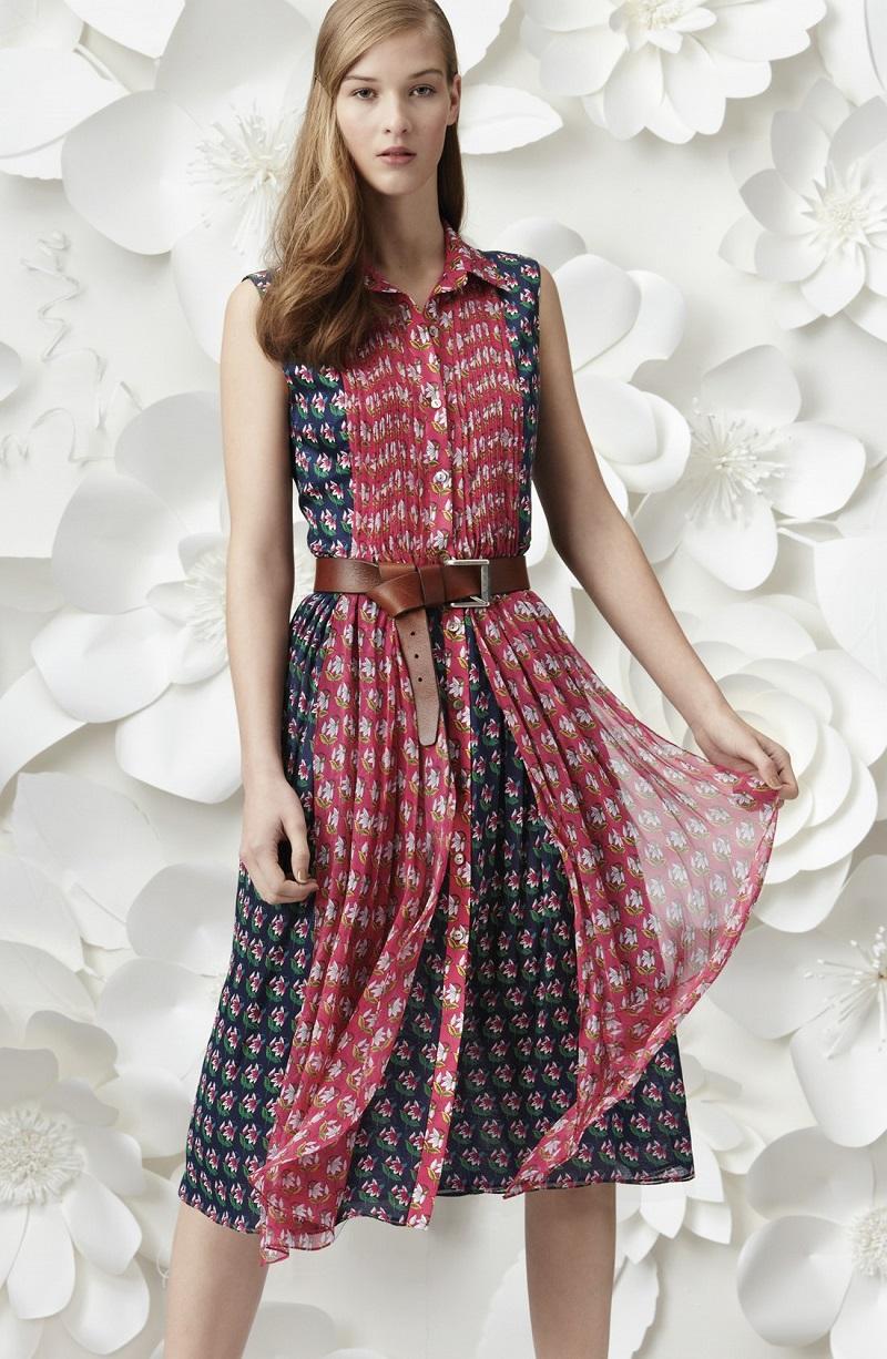 Diane von Furstenberg Nieves Floral Print Silk Shirtdress