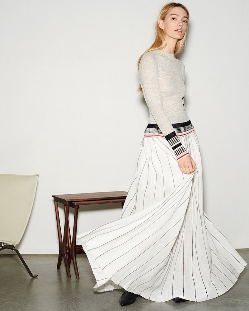 Edition10 Pinstripe Long Skirt
