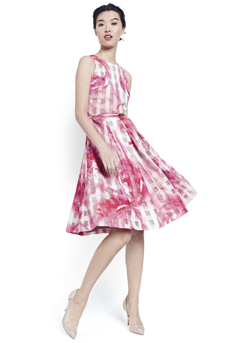 Eliza J Floral Organza Fit & Flare Dress_1