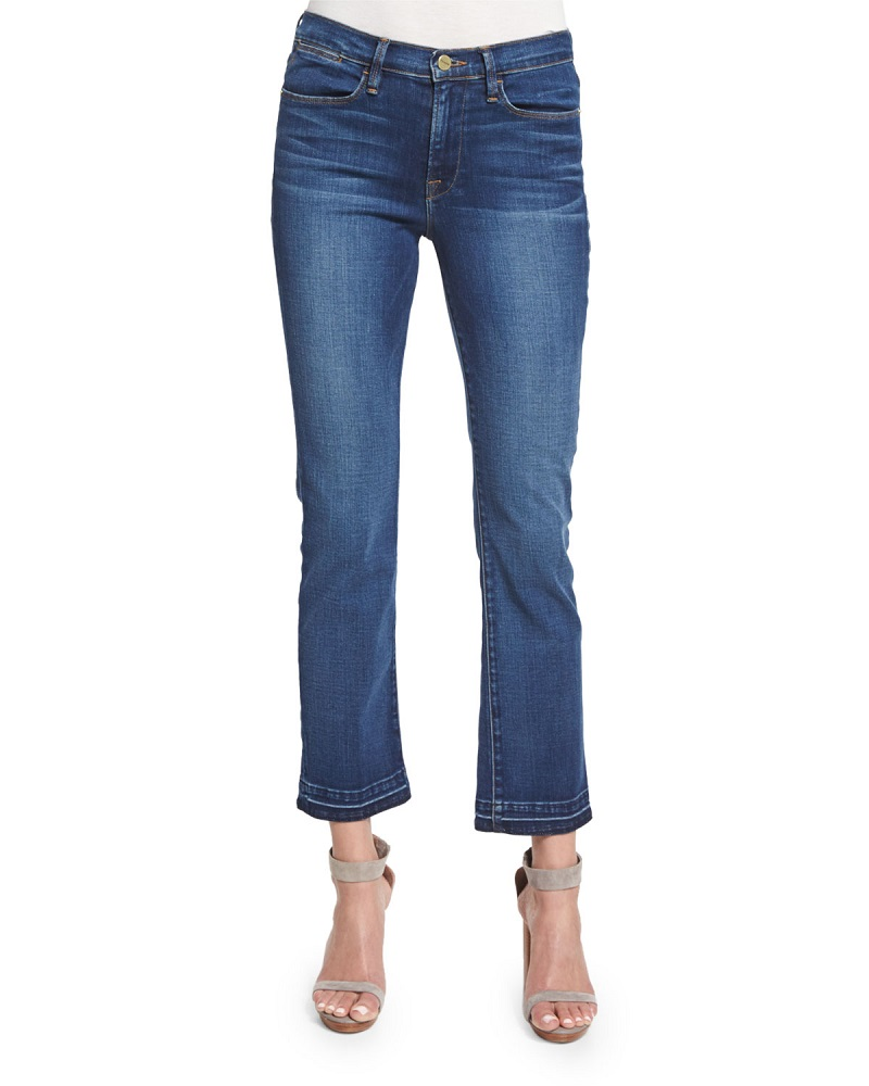 FRAME DENIM Le High Straight-Leg Cropped Jeans