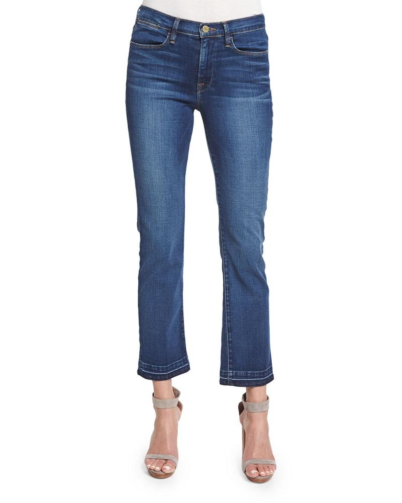 FRAME DENIM Le High Straight-Leg Cropped Jeans