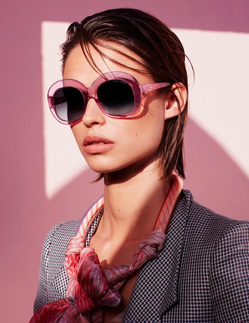 Giorgio Armani Rectangular Framed Sunglasses
