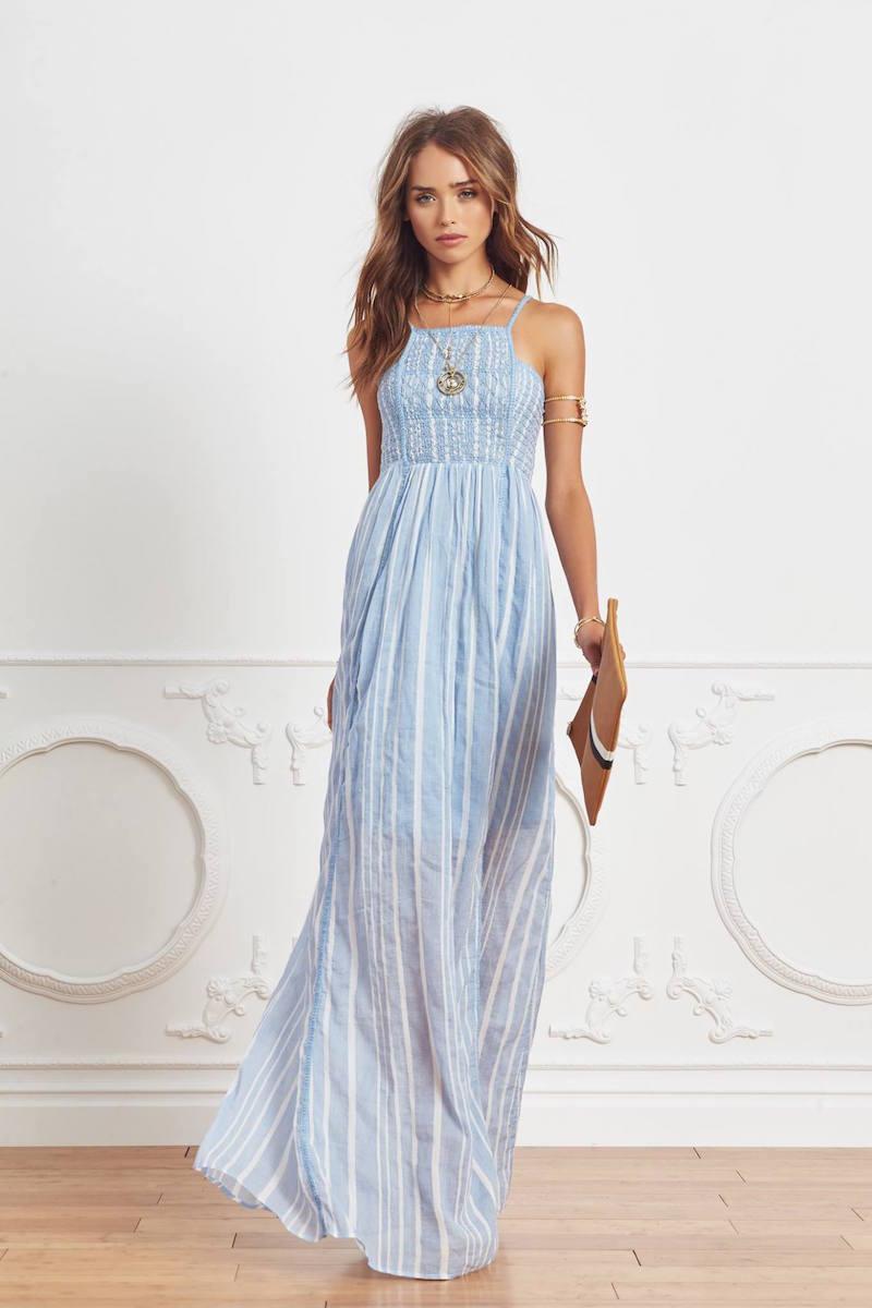 Hoss Intropia Striped Maxi Dress