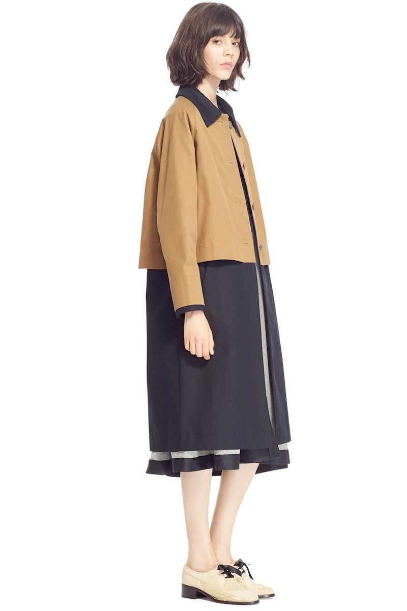 Isa Arfen Two Layer Trench Coach