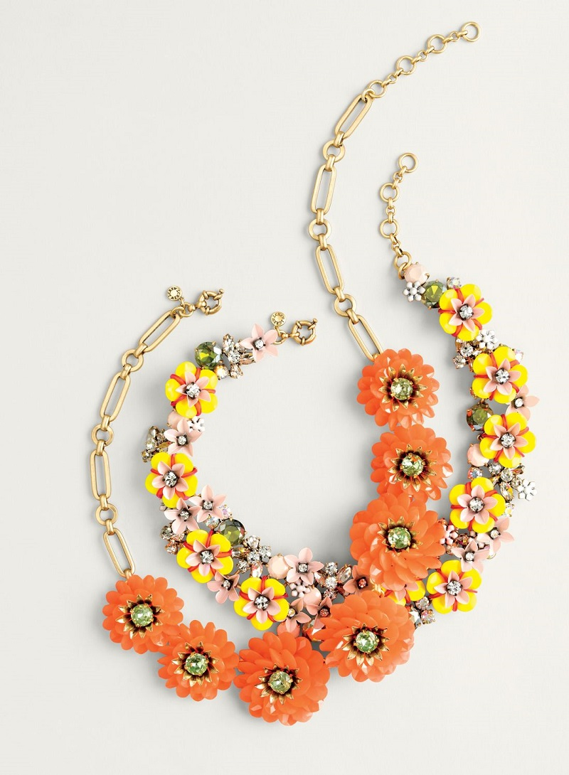 J.Crew Zinnia crystal necklace