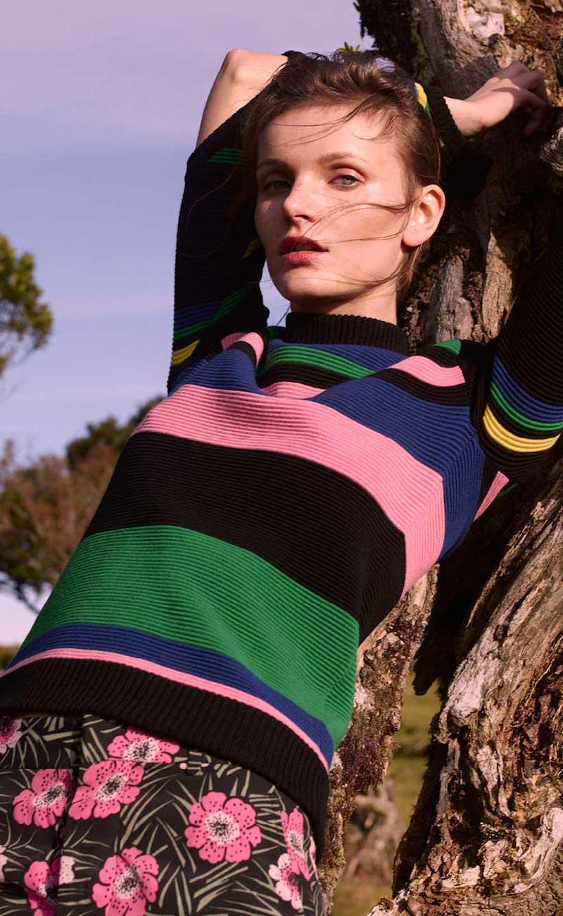 J.W.Anderson Cutout Striped Wool Sweater