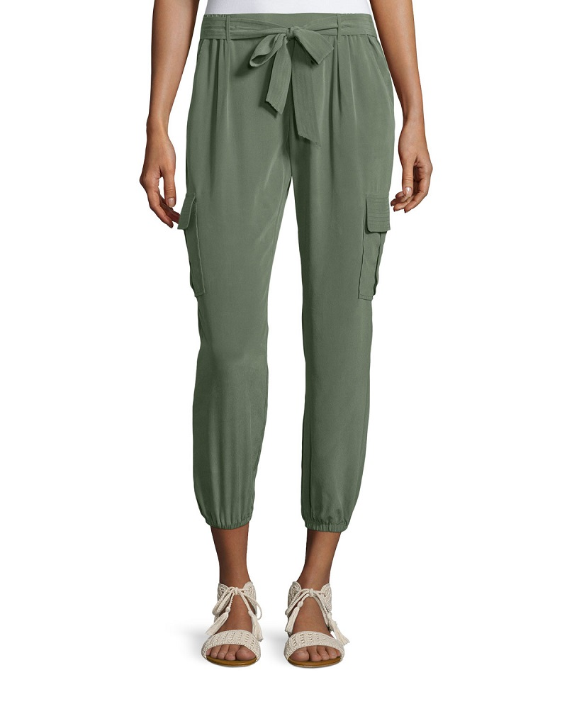 Joie Aliza Vintage-Wash Silk Pants