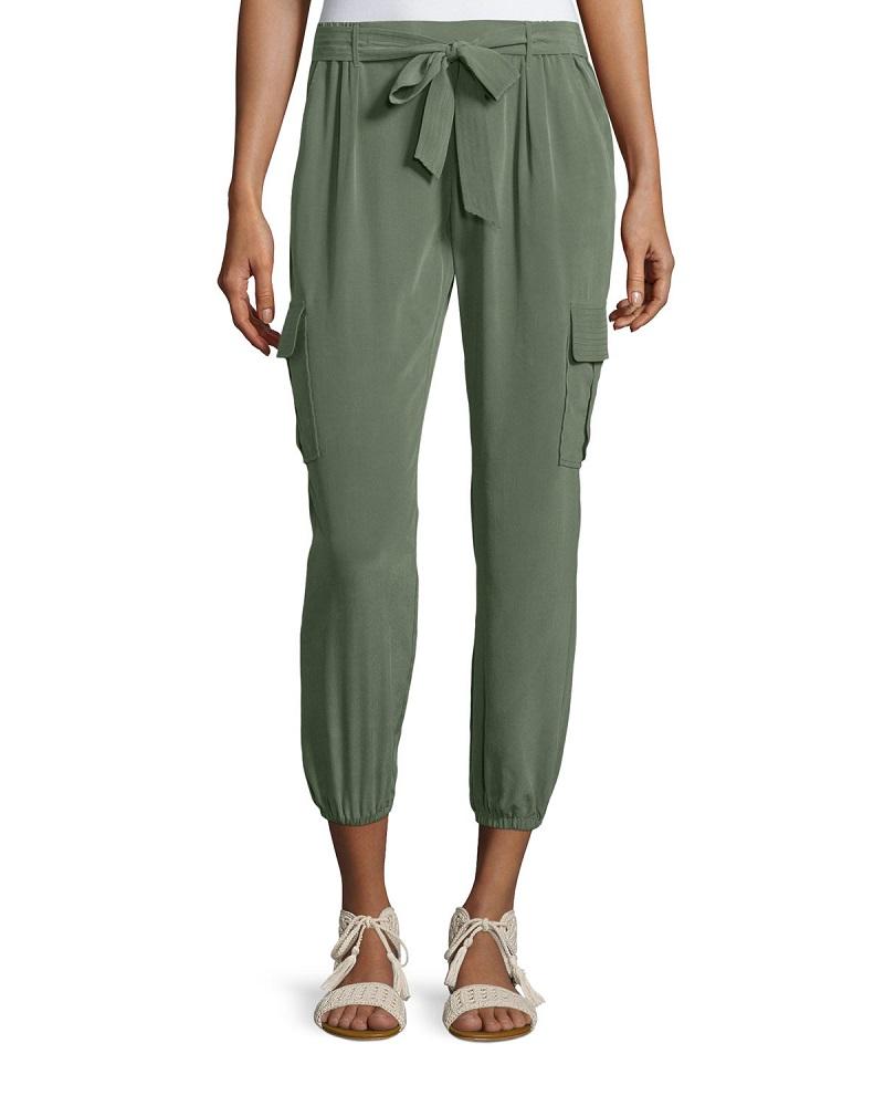 Joie Aliza Vintage-Wash Silk Pants