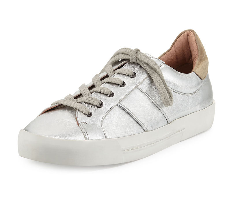 Joie Dakota Metallic Low-Top Sneaker