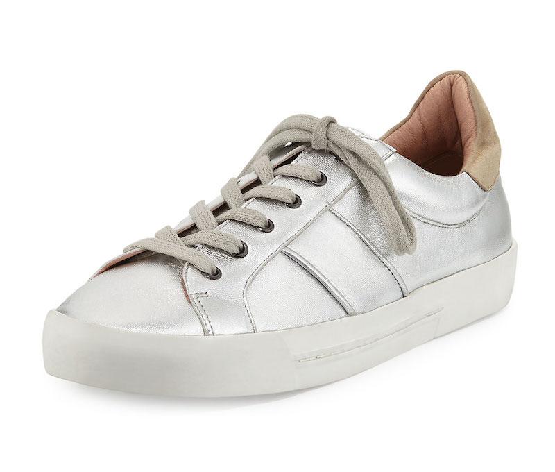 Joie Dakota Metallic Low-Top Sneaker