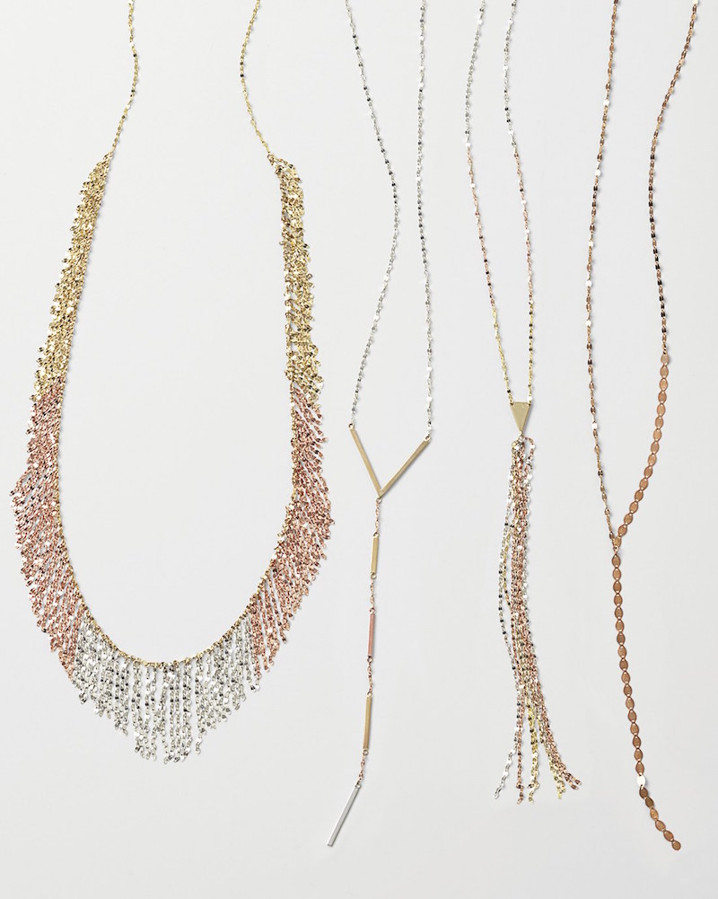 Lana Jewelry Nude Tri-Color Fringe Necklace