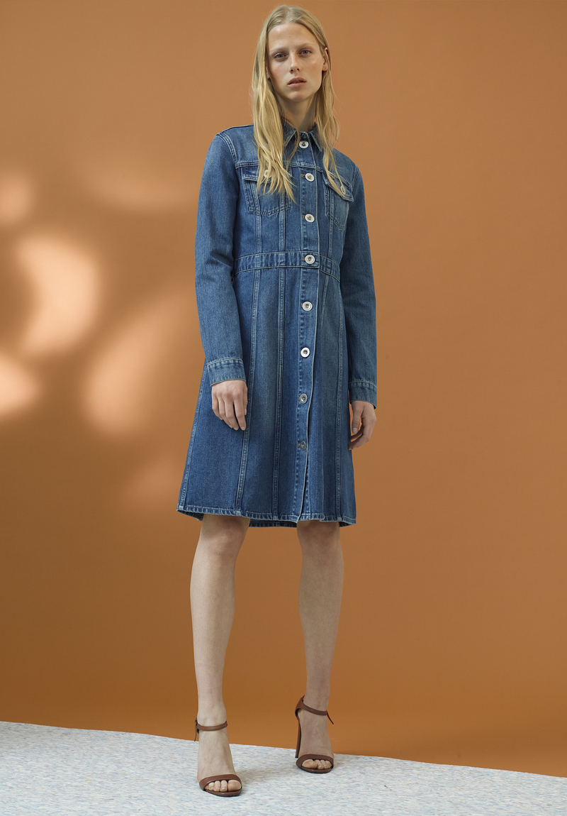 M I H Jeans Dj Long Sleeved Denim Dress