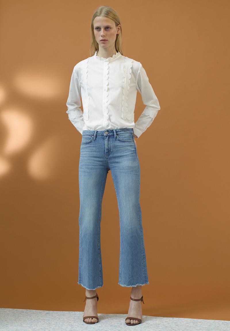 M.i.h Jeans Ile Scalloped-edges Cotton Shirt