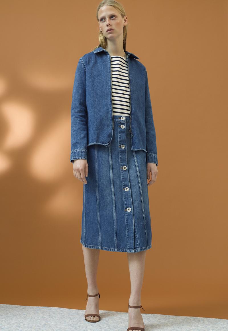 M.i.h Jeans Simone Button-down Denim Skirt