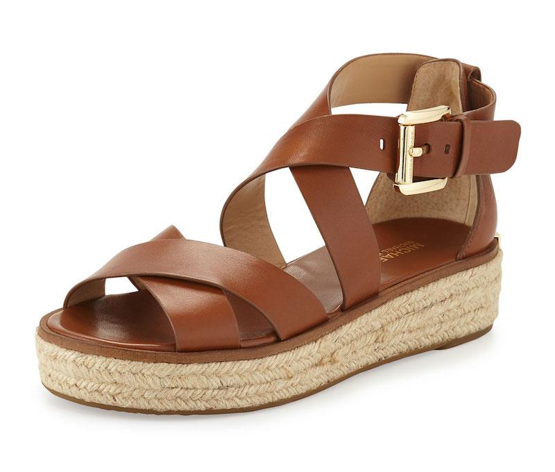 MICHAEL Michael Kors Darby Leather Crisscross Sandal