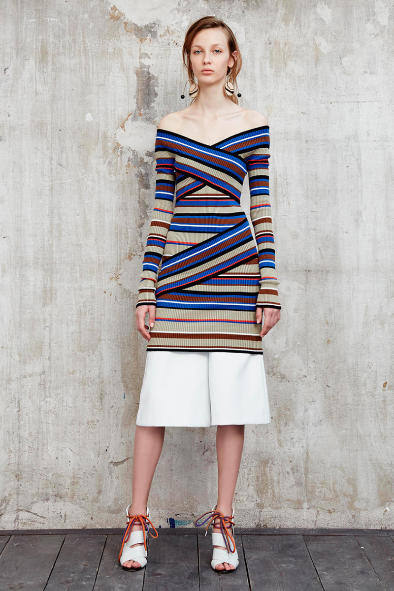 MSGM Off-the-shoulder striped sweater