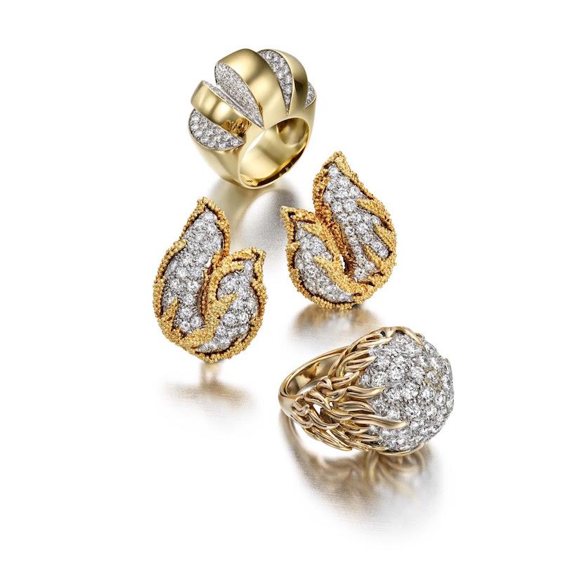 Mahnaz Ispahani Vintage Pavé Earrings