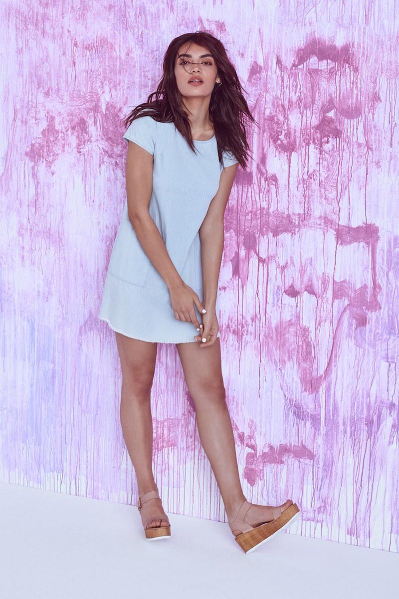 Mimi Chica Chambray Shift Dress