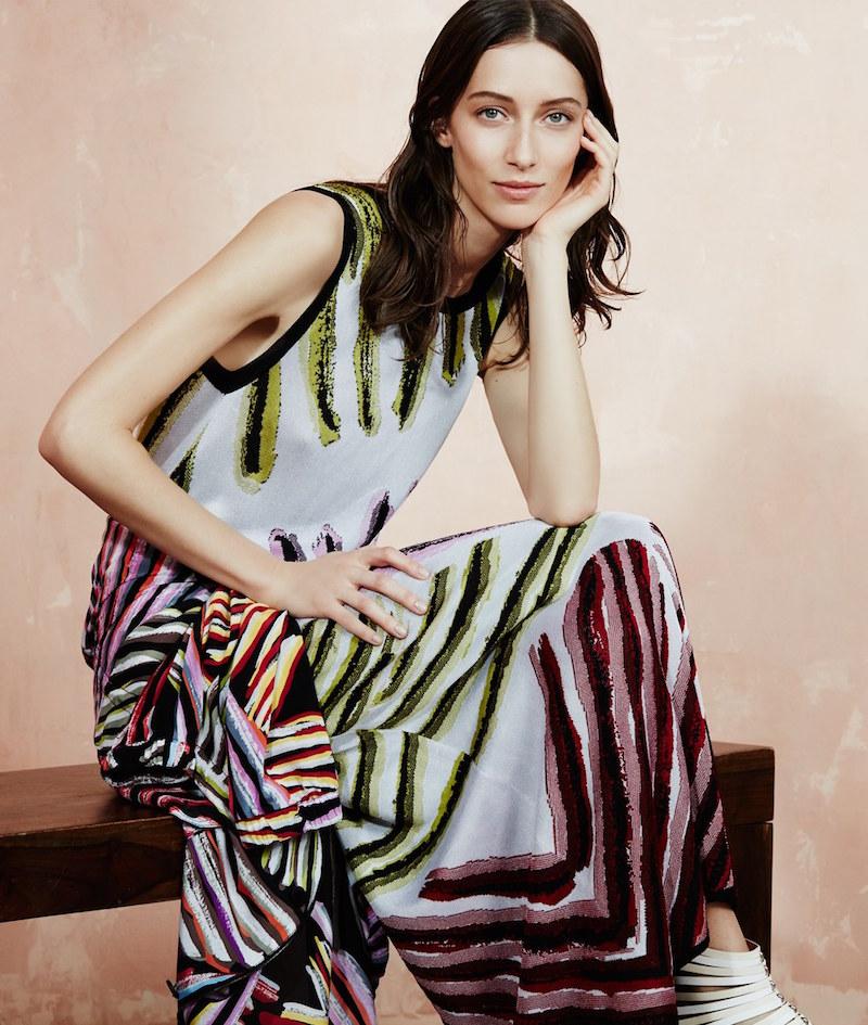Missoni Abstract Print Sleeveless Knit Maxi Dress