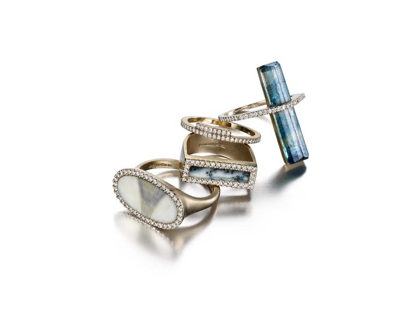Monique Péan Diamond & Kyanite Ring