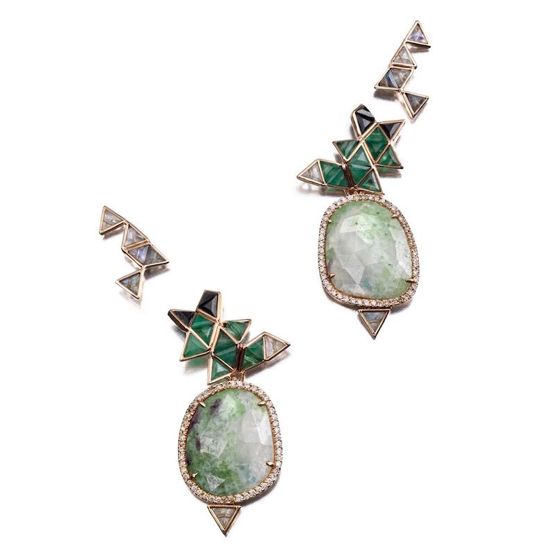 Nak Armstrong Mixed-Gemstone Earrings