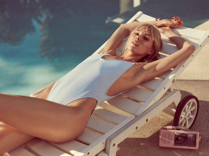 Nasty Gal Alina Swimsuit in Baby Blue