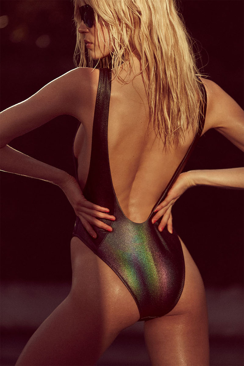 Nasty Gal Skye Oil Slick Hologram Swimsuit