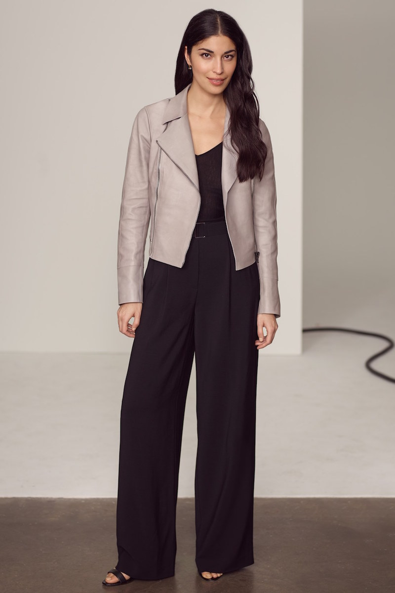 Nordstrom Signature and Caroline Issa Stretch Faille Belted Wide Leg Pants
