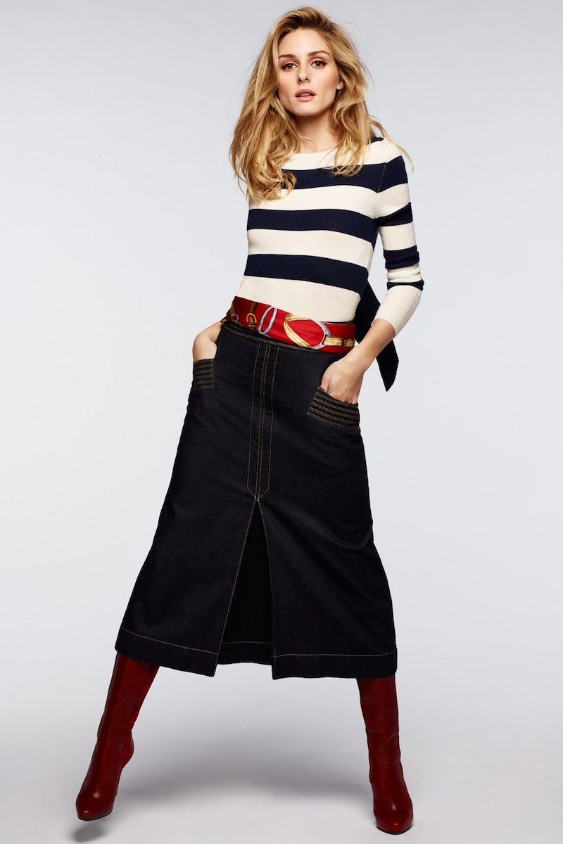 Olivia Palermo + Chelsea28 Stripe Wool & Cashmere Pullover