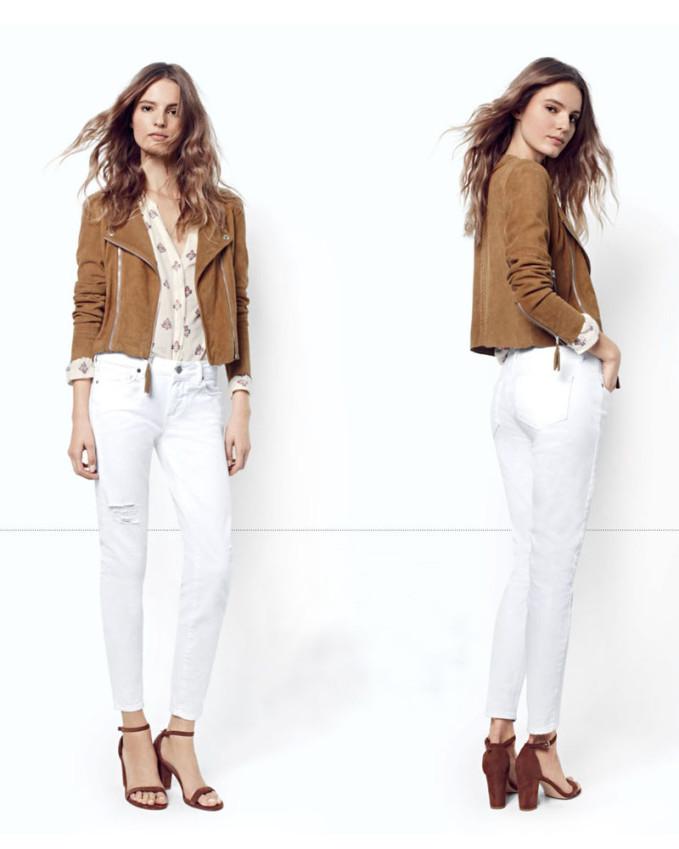 Paige Denim Tiana Crop Suede Moto Jacket
