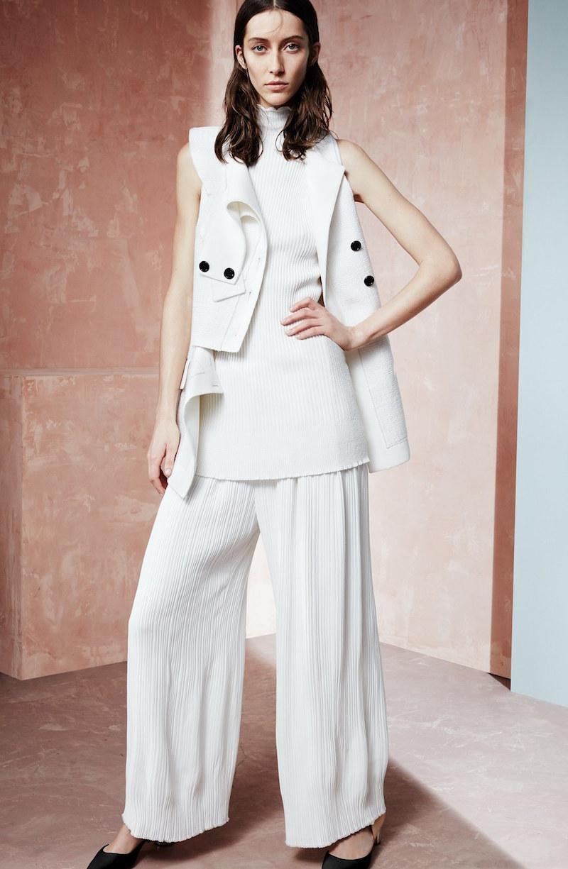 Proenza Schouler Asymmetrical Tweed Suiting Vest