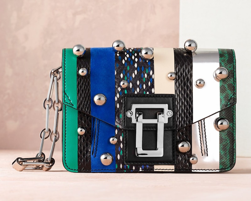 Proenza Schouler Hava Exotic Spheres Embellished Leather Clutch