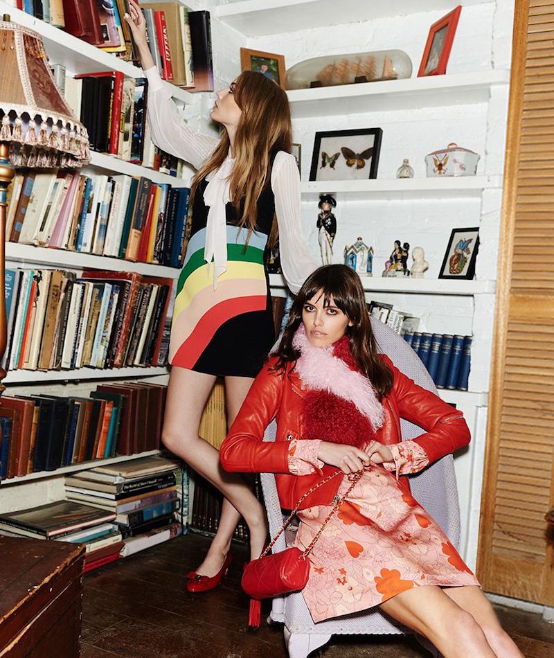 RED Valentino Rainbow Tank Dress