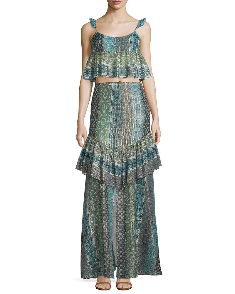 Rachel Zoe Meredith Printed Maxi Skirt-
