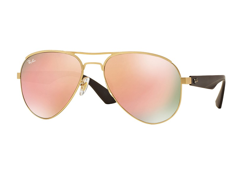 Ray-Ban Mirrored Iridescent Aviator Sunglasses