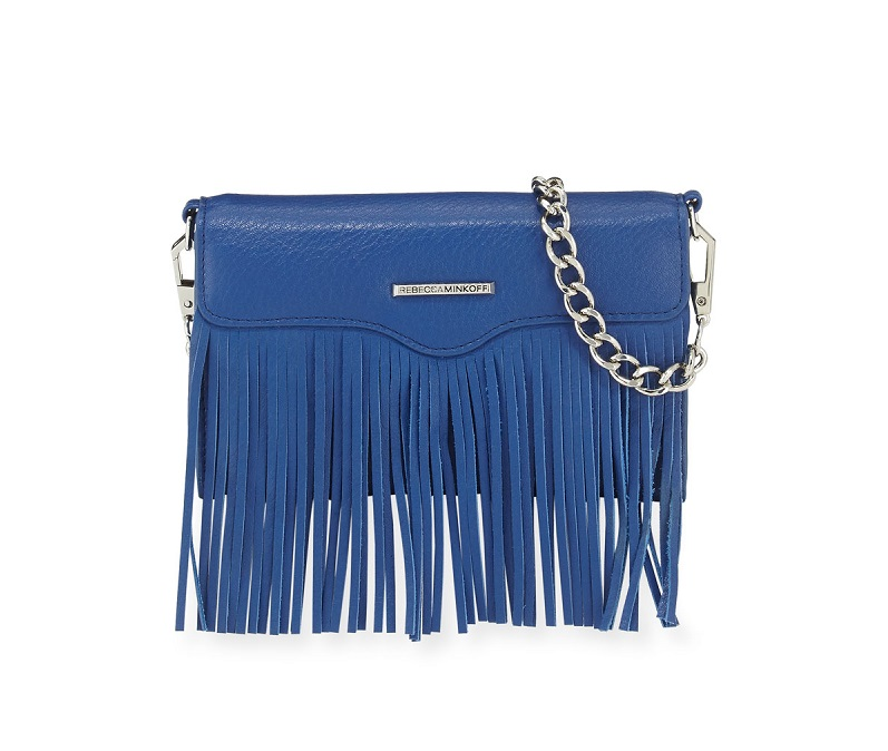 Rebecca Minkoff Universal Fringe Crossbody Bag Wallet for Smart Phone
