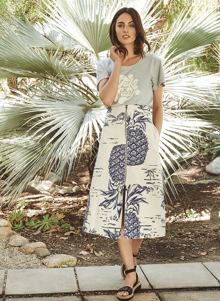 Sea Pineapple Zip Skirt
