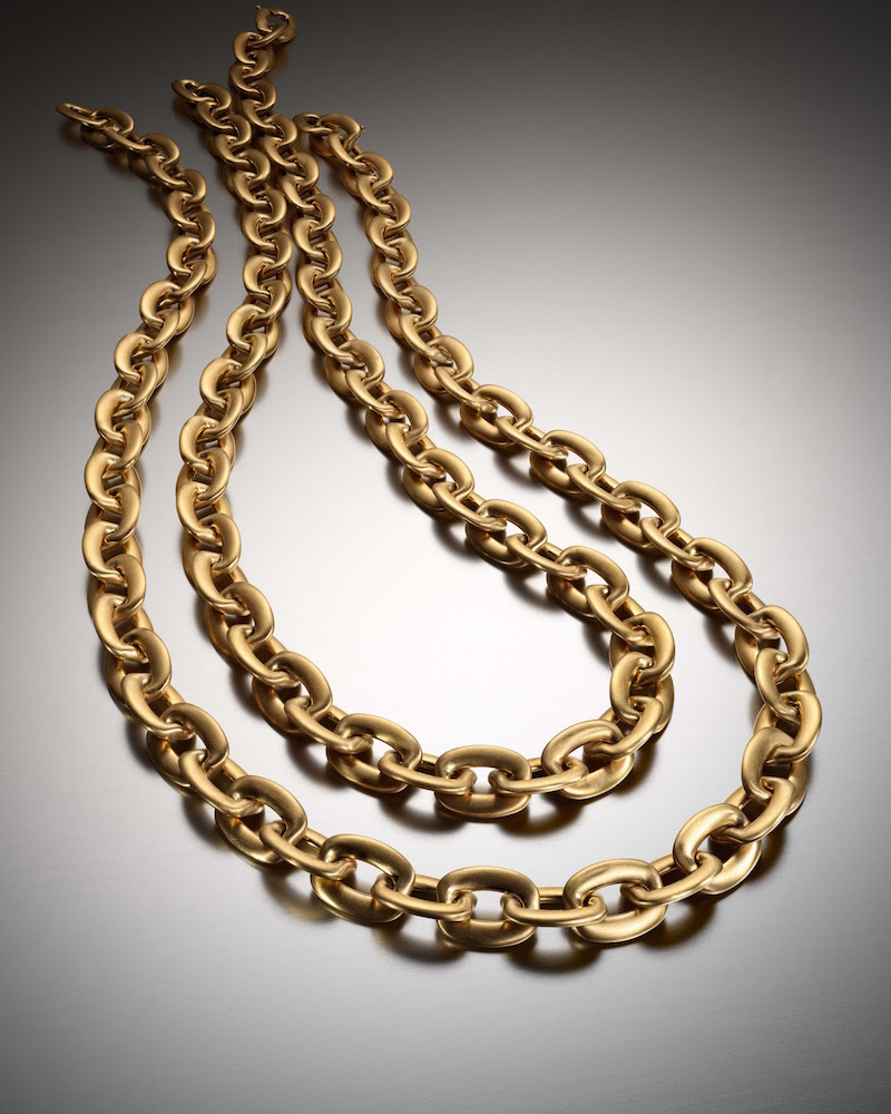 Sidney Garber Squared Oval-Link Chain