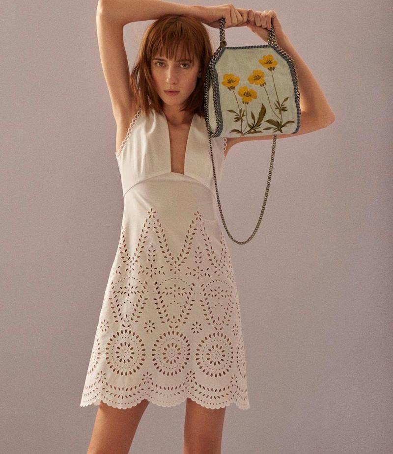 Stella McCartney Aline Eyelet Dress