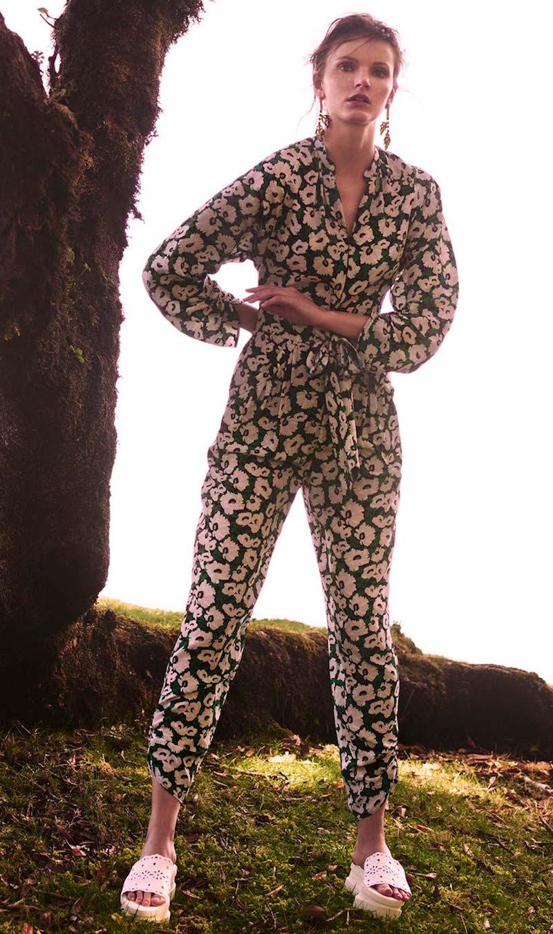 Stella McCartney Monia Floral-print Silk Jumpsuit