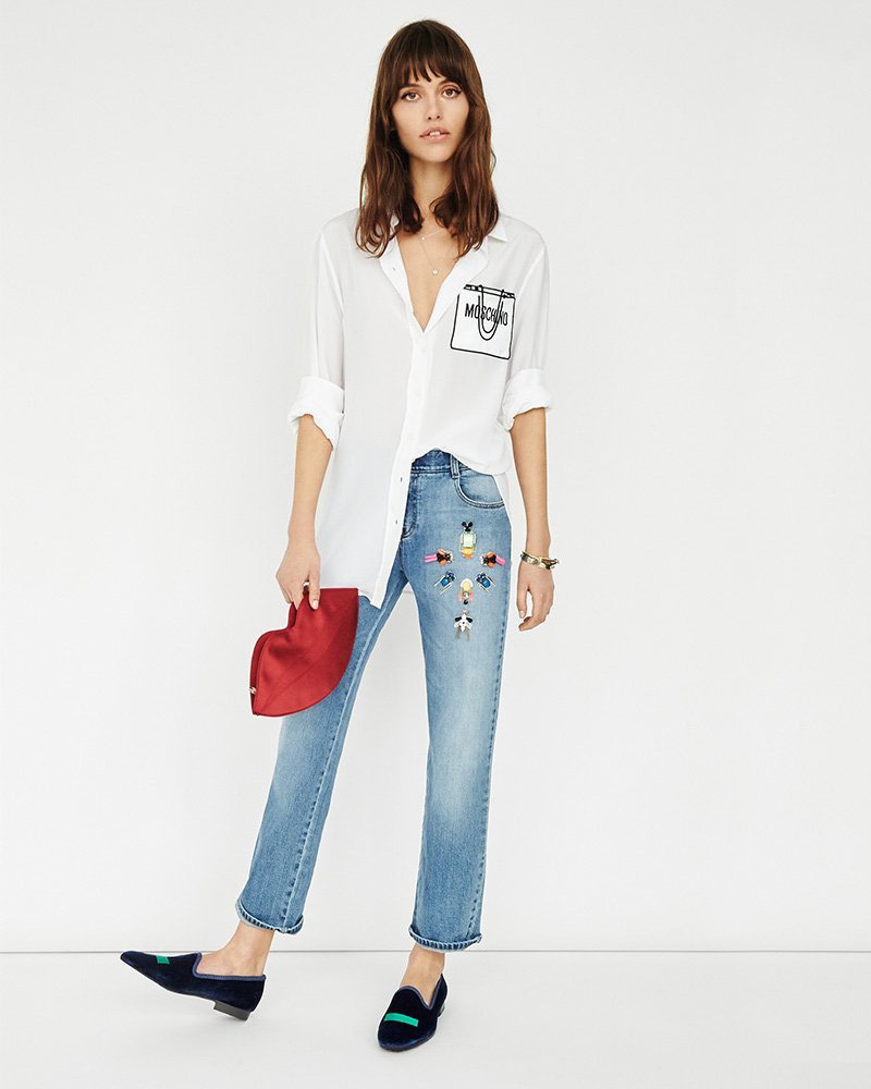 Stella McCartney Tomboy Diamond Embroidered Jeans