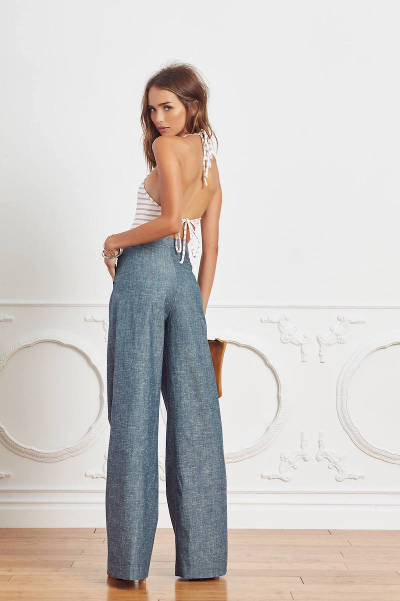 TY-LR The Chambray Cate Trouser