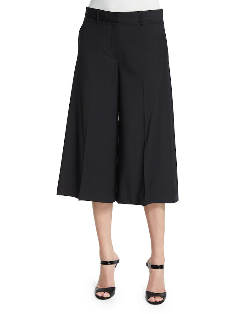Theory Halientra Cropped Wool-Blend Pants