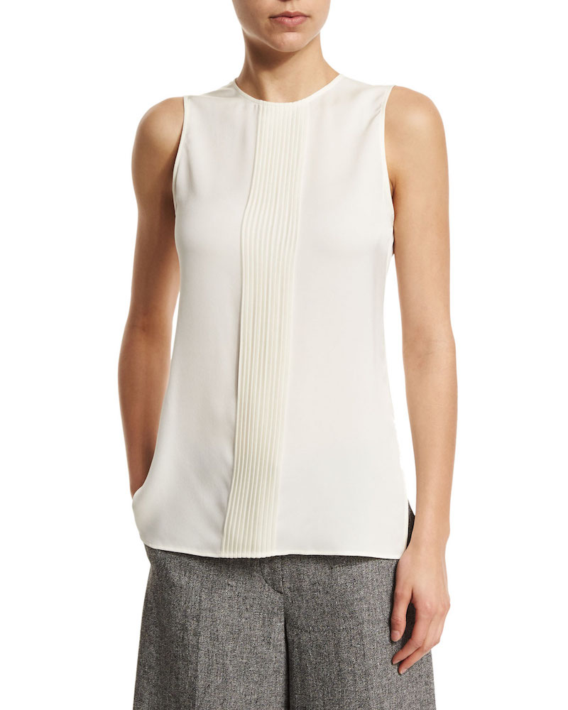 Theory Yinga Sleeveless Jewel-Neck Top